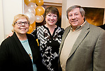 CHESHIRE, CT-011218JS16---Dale Spanger, President of the Cheshire Art League; Joan Pilarczyk, Director of Artsplace and Cheshire Town Council member Peter Talbot, at the grand opening of The Voice of Art Gallery and Studio in Cheshire. <br /> Jim Shannon Republican-American