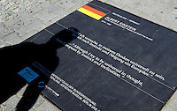 24 AUG 2009 - BERLIN, GER - The German contribution, a quote from Albert Einstein, on the Path of Visionaries in Berlin (PHOTO (C) NIGEL FARROW)