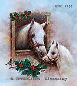 GIORDANO, CHRISTMAS ANIMALS, WEIHNACHTEN TIERE, NAVIDAD ANIMALES, paintings+++++,USGI2433,#XA# horse,horses