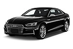 2018 Audi S5 Premium-Plus 2 Door Coupe Angular Front stock photos of front three quarter view