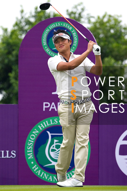 Ryuji Imada during the Mission Hills Start Trophy at the Mission Hills Golf Resort on October 31, 2010 in Haikou, China. The Mission Hills Star Trophy is Asia's leading leisure liflestyle event and features Hollywood celebrities and international golf stars. Photo by Victor Fraile