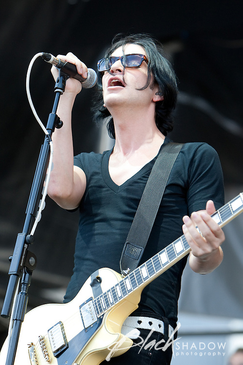 Placebo performing at the Soundwave Festival, Melbourne Show Ground, 26 February 2010