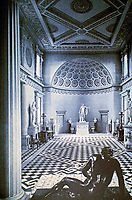 "Entrance Hall, Syon House. Middlesex, England 1762-63. Architect and Interior Designer Robert Adam redesigned Syon House in his ""eclectic style""."