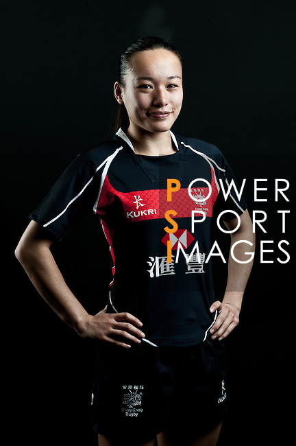 Christy Cheng Ka Chi poses during the Hong Kong 7's Squads Portraits on 5 March 2012 at the King's Park Sport Ground in Hong Kong. Photo by Andy Jones / The Power of Sport Images for HKRFU