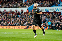 12th January 2020; Villa Park, Birmingham, Midlands, England; English Premier League Football, Aston Villa versus Manchester City; Sergio Agüero of Manchester City celebrates scoring the 5th goal on the 57th minute for 5-0 - Strictly Editorial Use Only. No use with unauthorized audio, video, data, fixture lists, club/league logos or 'live' services. Online in-match use limited to 120 images, no video emulation. No use in betting, games or single club/league/player publications