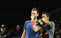 Rotterdam, The Netherlands, 13 Februari 2019, ABNAMRO World Tennis Tournament, Ahoy,  Raven Klaasen (RSA) Michael Venus (NZL) (L)<br /> Photo: www.tennisimages.com/Henk Koster