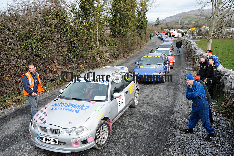 Competitors line up for their next challenge  at Scalp Hill Carron during one of the opening two rounds of the Connaught Competition Engines Irish Hillclimb & Sprint Championship on the annual Clare Motor Club Hillclimb Weekend. Photograph by John Kelly.