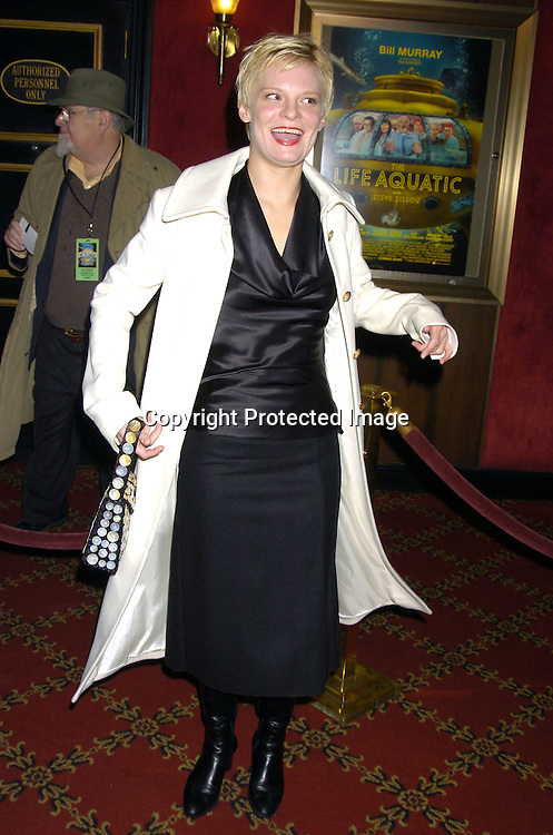 """Martha Plimpton ..at The World Premiere of """"The Life Aquatic with Steve Zissou""""  on December 9, 2004 at The Ziegfeld Theatre. ..Photo by Robin Platzer, Twin Images"""