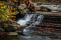 Six Finger Falls in the fall on Richland Creek in the Ozark National Forest in Arkansas.