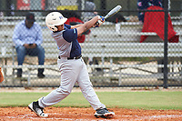 Omar Carreras (4) of New Brunswick, New Jersey during the Baseball Factory All-America Pre-Season Rookie Tournament, powered by Under Armour, on January 13, 2018 at Lake Myrtle Sports Complex in Auburndale, Florida.  (Michael Johnson/Four Seam Images)