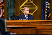 United States Senator Lindsey Graham (Republican of South Carolina) speaks during a business meeting of the United States Senate Judiciary Committee at the United States Capitol in Washington D.C., U.S. on Thursday, May 21, 2020.  Credit: Stefani Reynolds / CNP /MediaPunch