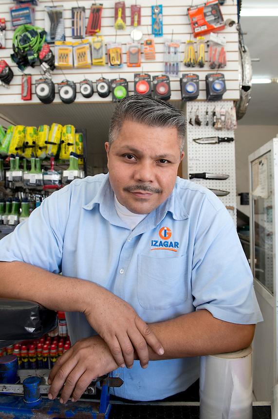 Mario Albero Meza Martinez. Hardware store owners in El Dorado, Sinaloa,  Mexico