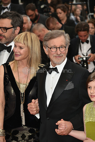 Kate Capshaw, Steven Spielberg at 'The BFG' screening at the 69th International Cannes Film Festival, France<br /> May 14, 2016<br /> CAP/PL<br /> &copy;Phil Loftus/Capital Pictures / MediaPunch *** North American &amp; South American Rights Only***