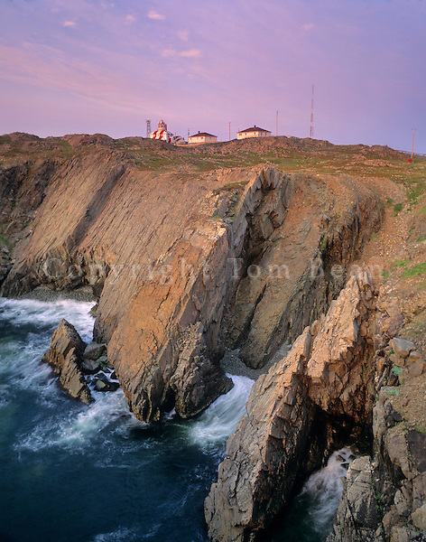 Historic Cape Bonavista Lighthouse, 1843, on the rocky Atlantic Coast of Newfoundland, Canada, AGPix_0514..
