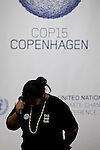 """Leah Wickham, from Fiji, breaks into tears on the opening day of the Copenhagen summit.  TckTckTck - an unprecedented alliance of civil society organisations -delived its petition which more than 10 million people have signed, calling for world leaders to seal a fair, ambitious and binding climate deal at the talks...15 young people from around the world held large scale """"building blocks"""" which spell out """"10 million people expect a fair, ambitious and binding deal"""" to show world leaders that all the elements required for an effective climate treaty are present...Young people from around the world handed over the petition to UNFCCC Executive Secretary Yvo de Boer and Danish Climate Minister and the President of COP15 Connie Hedegaard. Leah Wickham, from Fiji, will spoke briefly on behalf of the 10 million people expecting a real deal at Copenhagen. Credit: Robert vanWaarden"""
