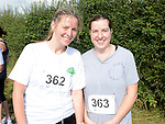 Claire Prout and Derina Rispin who took part in the Duleek 10K run. Photo:Colin Bell/pressphotos.ie