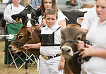 RIVERTON , CT-101517JS04-- Children show off their cows in the junior dairy judging Sunday on the final day of the 108th Riverton Fair. <br /> Jim Shannon Republican-American
