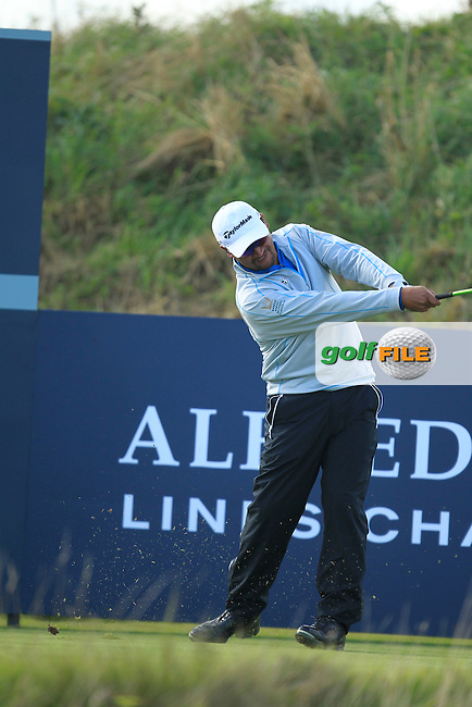 Michael Campbell (NZL) during Round 1of the Alfred Dunhill Links Championship at Kingsbarns Golf Club on Thursday 26th September 2013.<br /> Picture:  Thos Caffrey / www.golffile.ie
