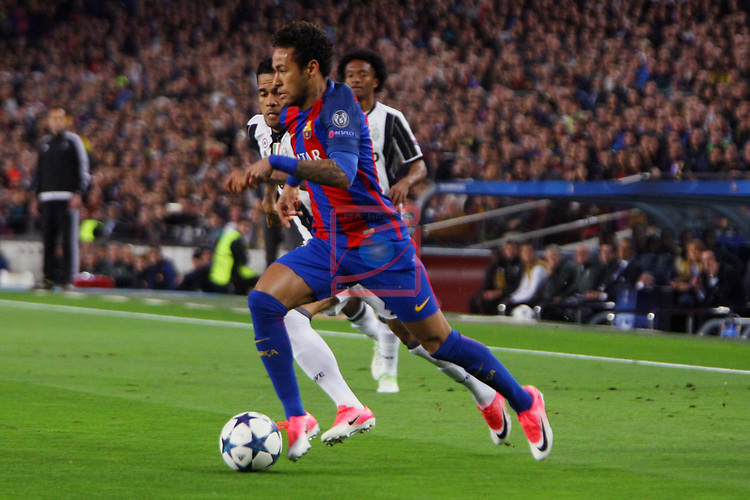 UEFA Champions League 2016/2017.<br /> Quarter-finals 2nd leg.<br /> FC Barcelona vs Juventus Football Club: 0-0.<br /> Dani Alves vs Neymar Jr.