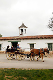 USA, California, San Diego, a family on a horse and carriage ride in Old Town
