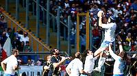 Six Nations rugby tournament: Italy vs Scotland. Rome, Olympic stadium, 17 march 2012..Torneo Sei Nazioni di rugby: Italia-Scozia. Roma, stadio Olimpico, 17 marzo 2012..Italy's Marco Bortolami catches the ball during a line out..UPDATE IMAGES PRESS/Riccardo De Luca