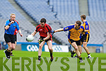Alan O'Leary Kenmare in Action against Shane Kenny  Ballinasloe in the Junior All Ireland Club Final in Croke park on Sunday.