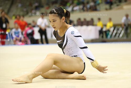 Izumi Nitta (), <br /> AUGUST 21, 2017 - Artistic Gymnastics : <br /> 48th All Japan Junior High School Championships <br /> Women's Individual All-Around <br /> Floor Exercise <br /> at Kitakyushu City General Gymnasium, Fukuoka, Japan. <br /> (Photo by YUTAKA/AFLO)