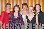 STYLE: Yvonne McCarthy, Margaret Creedon, Norrie Sheehan, Mary Reen and Breda Pierce (all Glenflesk) enjoying the Seamus Moynihan tribute in the Killarney Great Southern Hotel last Friday night. .