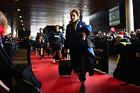 Bath Rugby Team Manager Sophie Bennett arrives at the Stade Ernest Wallon. Heineken Champions Cup match, between Stade Toulousain and Bath Rugby on January 20, 2019 at the Stade Ernest Wallon in Toulouse, France. Photo by: Patrick Khachfe / Onside Images