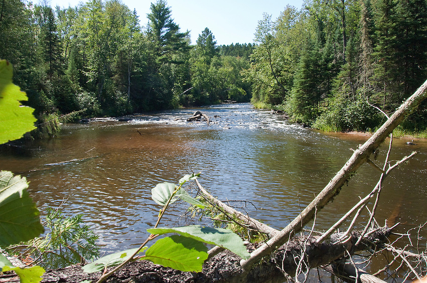 The east branch of the Ontonagon River in Michigan's Upper Peninsula.