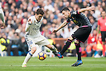 Mateo Kovacic of Real Madrid fights for the ball with Javi Fuego of RCD Espanyol during the match Real Madrid vs RCD Espanyol, a La Liga match at the Santiago Bernabeu Stadium on 18 February 2017 in Madrid, Spain. Photo by Diego Gonzalez Souto / Power Sport Images