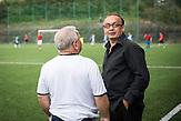 Trainer Pavel Horvath, Roma Fußballmannschaft in Decin. Sie spielen in der tschechischen Kreisklasse und werden  oft boykottiert von den anderen Klubs. / Czech roma  soccerteam