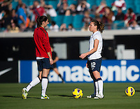 Lauren Cheney, Yael Averbuch.  The USWNT defeated Scotland, 4-1, during a friendly at EverBank Field in Jacksonville, Florida.