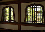 Katomado Fire-Light Windows, Genji Windows, Shoin Drawing Hall Corridor, Tenryuji Heavenly Dragon Temple, Kyoto, Japan