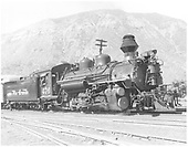 D&amp;RGW #476 K-28 at Durango.<br /> D&amp;RGW  Durango, CO  Taken by Payne, Andy M. - 6/20/1957