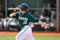 Chicago State University Cougars outfielder Jake Peltz #15 during a game against the St. Bonaventure Bonnies at South County Regional Park on March 3, 2013 in Punta Gorda, Florida.  (Mike Janes/Four Seam Images)