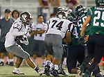 Torrance, CA 10/09/15 - Jeremiah Aiono (Torrance #28) in action during the Torrance vs South High varsity football game.  South defeated Torrance 24-21.