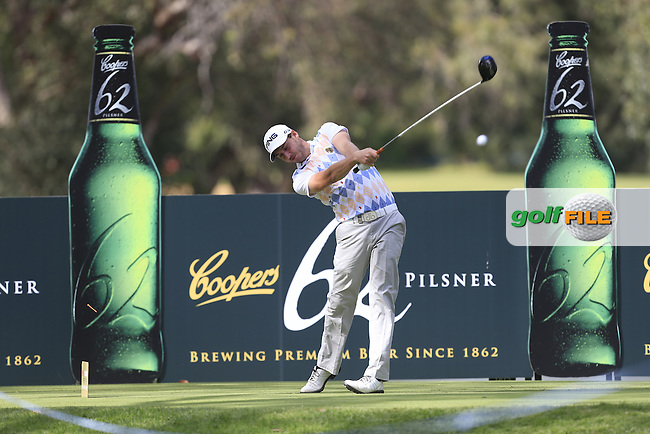 Matthew Nixon (ENG) on the 11th tee during Round 3 of the ISPS HANDA Perth International at the Lake Karrinyup Country Club on Saturday 25th October 2014.<br /> Picture:  Thos Caffrey / www.golffile.ie