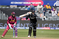 Tom Blundell (New Zealand) flicks into the on side during West Indies vs New Zealand, ICC World Cup Warm-Up Match Cricket at the Bristol County Ground on 28th May 2019