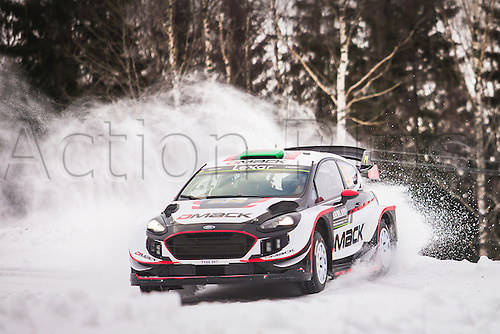 February 12th, 2017; Torsby, Sweden; WRC rally of Sweden; Evans