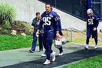 June 7, 2017: New England Patriots outside linebacker Derek Rivers (95) walks to practice at the New England Patriots mini camp held on the practice field at Gillette Stadium, in Foxborough, Massachusetts. Eric Canha/CSM