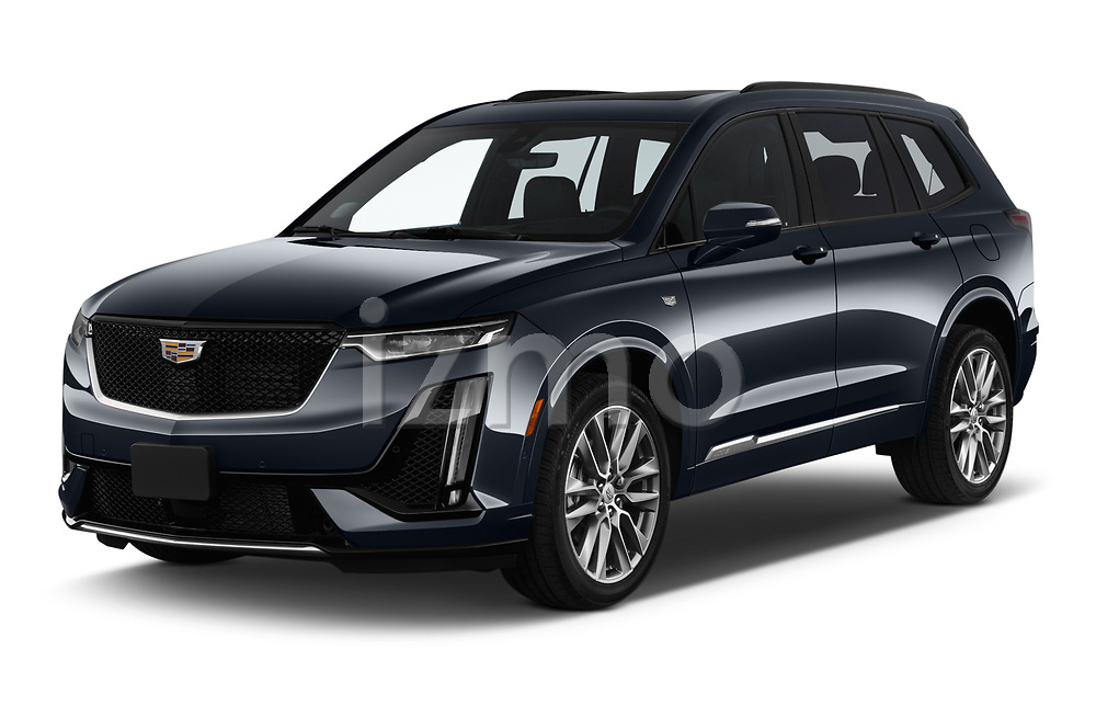 2020 Cadillac XT6 Sport 5 Door SUV angular front stock photos of front three quarter view