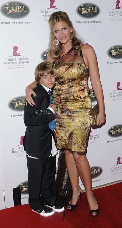 Natasha Henstridge and her son Tristan arriving at the 5th Annual Runway For Life benefiting St. Jude Children's Research Hosptal, at the Beverly Hilton Hotel Beverly Hills, Ca. October 11, 2008. Fitzroy Barrett