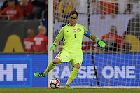 Chicago, IL - Wednesday June 22, 2016: Claudio Bravo during a Copa America Centenario semifinal match between Colombia (COL) and Chile (CHI) at Soldier Field.