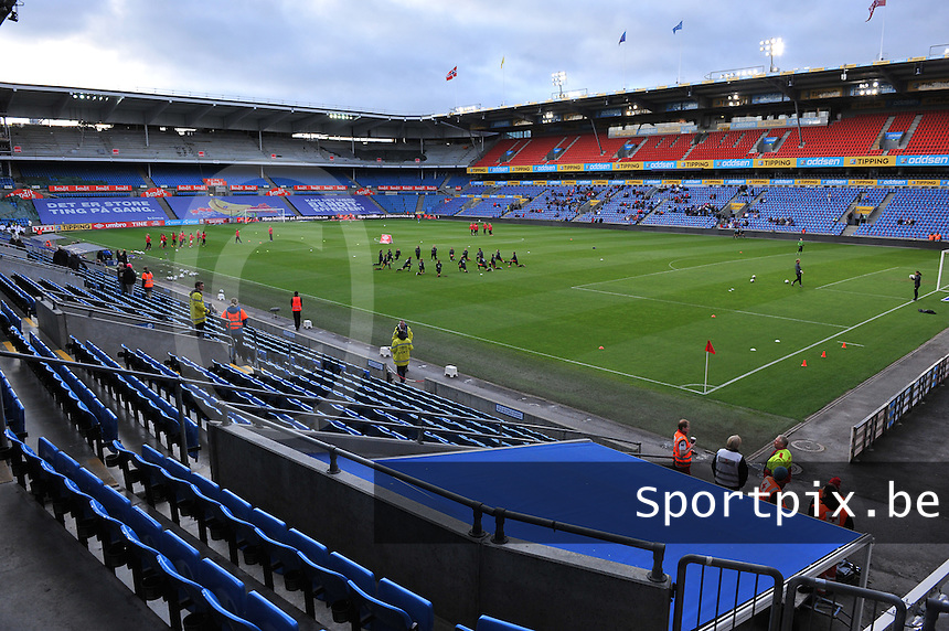 20130925 - OSLO , NORWAY : Ullevaal Stadium pictured during the female soccer match between Norway and Belgium , on the second matchday in group 5 of the UEFA qualifying round to the FIFA Women World Cup in Canada 2015 at the Ullevaal Stadion , Oslo . Wednesday 25th September 2013. PHOTO DAVID CATRY
