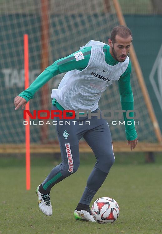 25.03.2015, Trainingsgelaende, Bremen, GER, 1.FBL, Training Werder Bremen, im Bild Alejandro Galvez (Bremen #4)<br /> <br /> Foto &copy; nordphoto / Frisch