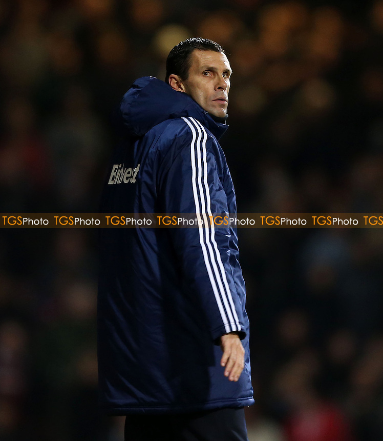 Sunderland manager Gus Poyet - West Ham United vs Sunderland, Barclays Premier League at Upton Park, West Ham - 14/12/13 - MANDATORY CREDIT: Rob Newell/TGSPHOTO - Self billing applies where appropriate - 0845 094 6026 - contact@tgsphoto.co.uk - NO UNPAID USE