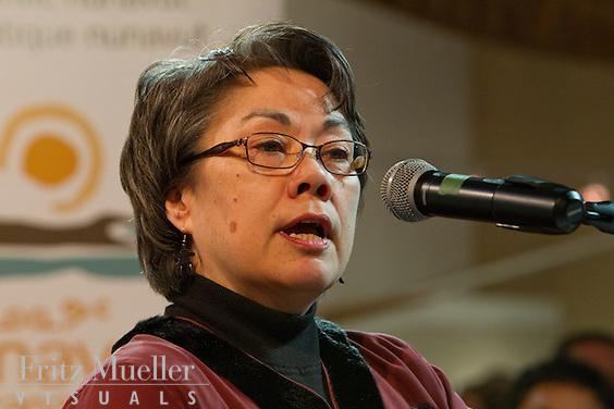 Premier Eva Aariak on Nunavut Day at Canada's Northern House