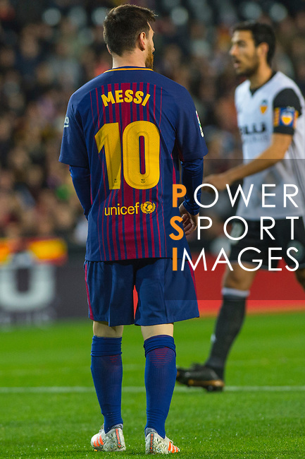 Lionel Andres Messi of FC Barcelona is seen during the La Liga 2017-18 match between Valencia CF and FC Barcelona at Estadio de Mestalla on November 26 2017 in Valencia, Spain. Photo by Maria Jose Segovia Carmona / Power Sport Images