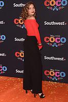 LOS ANGELES, CA - NOVEMBER 08: Georgie Flores arriving at Disney Pixar's 'Coco' premiere at El Capitan Theatre on November 8, 2017 in Los Angeles, California. Credit: David Edwards/MediaPunch